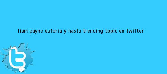 trinos de <b>Liam Payne</b>: euforia y hasta Trending Topic en Twitter
