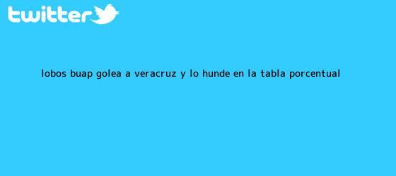 trinos de <b>Lobos</b> BUAP golea a <b>Veracruz</b> y lo hunde en la tabla porcentual