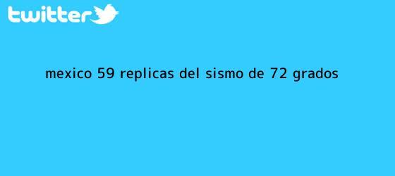 trinos de <b>México</b>: 59 réplicas del sismo de 7,2 grados