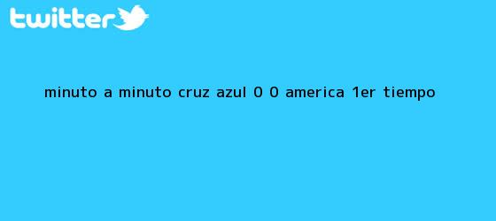 trinos de MINUTO A MINUTO: <b>Cruz Azul</b> 0 - 0 <b>América</b> (1er. Tiempo)