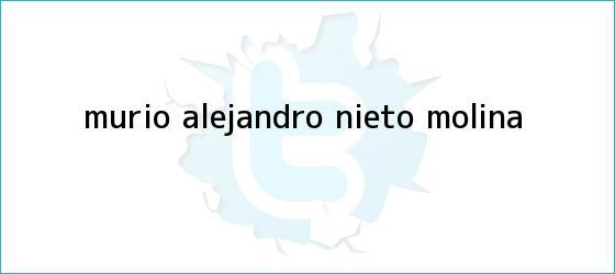 trinos de Murió <b>Alejandro Nieto Molina</b>