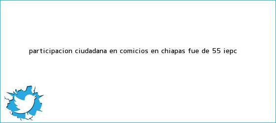 trinos de Participación ciudadana en comicios en Chiapas fue de 55%: <b>IEPC</b>