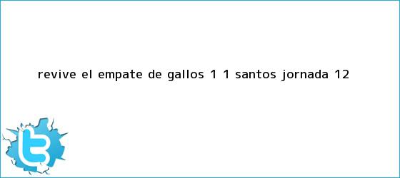 trinos de Revive el empate de Gallos 1 - 1 <b>Santos</b> (Jornada 12)