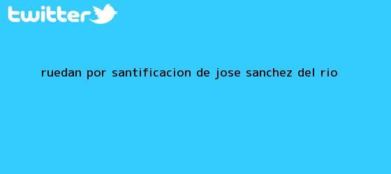 trinos de Ruedan por santificación de <b>José Sánchez del Río</b>