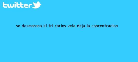 trinos de Se desmorona el Tri; <b>Carlos Vela</b> deja la concentración