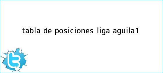 trinos de TABLA DE POSICIONES <b>LIGA Águila</b>-1