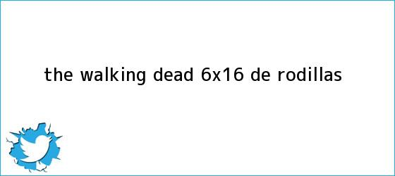 trinos de <b>The Walking Dead 6x16</b>: de rodillas