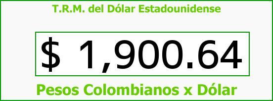 T.R.M. del Dólar para hoy Domingo 1 de Junio de 2014