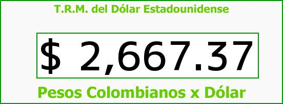 T.R.M. del Dólar para hoy Domingo 12 de Julio de 2015
