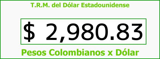 T.R.M. del Dólar para hoy Domingo 12 de Marzo de 2017