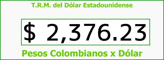 T.R.M. del Dólar para hoy Domingo 15 de Febrero de 2015