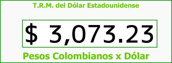 T.R.M. del Dólar para hoy Domingo 15 de Noviembre de 2015