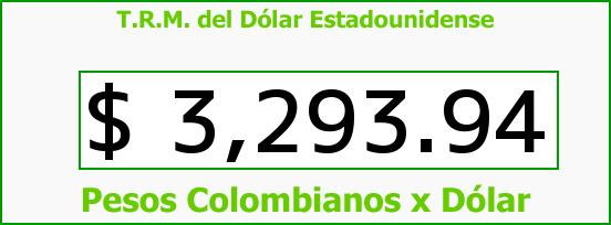 T.R.M. del Dólar para hoy Domingo 17 de Enero de 2016