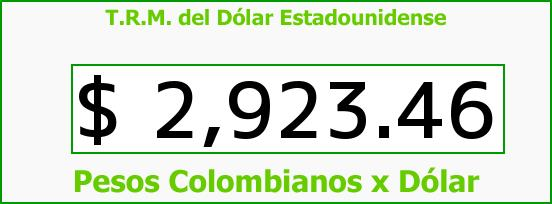 T.R.M. del Dólar para hoy Domingo 17 de Julio de 2016