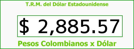 T.R.M. del Dólar para hoy Domingo 2 de Abril de 2017