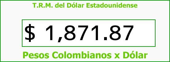 T.R.M. del Dólar para hoy Domingo 20 de Julio de 2014