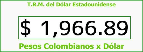T.R.M. del Dólar para hoy Domingo 21 de Septiembre de 2014