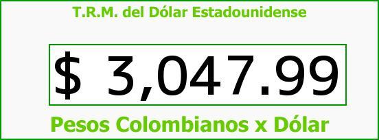 T.R.M. del Dólar para hoy Domingo 22 de Mayo de 2016