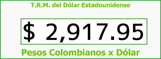 T.R.M. del Dólar para hoy Domingo 25 de Septiembre de 2016