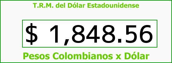 T.R.M. del Dólar para hoy Domingo 27 de Julio de 2014