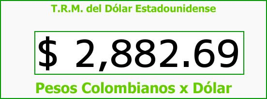 T.R.M. del Dólar para hoy Domingo 28 de Agosto de 2016