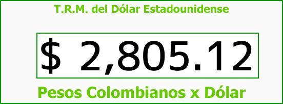 T.R.M. del Dólar para hoy Domingo 28 de Enero de 2018