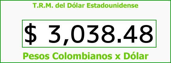 T.R.M. del Dólar para hoy Domingo 3 de Abril de 2016