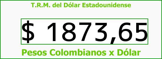 T.R.M. del Dólar para hoy Domingo 3 de Agosto de 2014