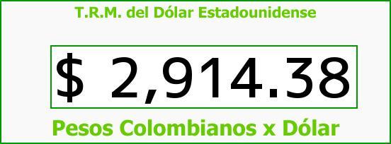T.R.M. del Dólar para hoy Domingo 3 de Julio de 2016
