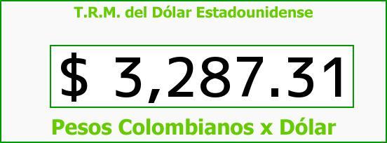 T.R.M. del Dólar para hoy Domingo 31 de Enero de 2016