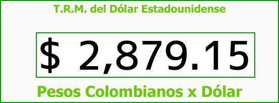 T.R.M. del Dólar para hoy Domingo 4 de Marzo de 2018