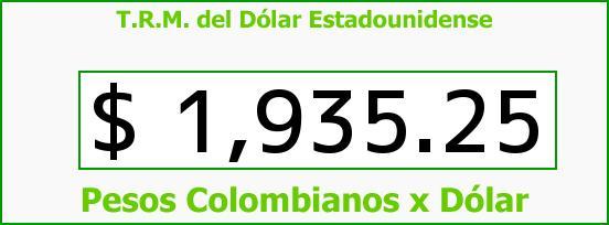 T.R.M. del Dólar para hoy Domingo 7 de Septiembre de 2014
