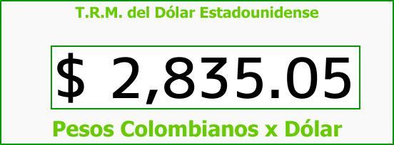 T.R.M. del Dólar para hoy Jueves 1 de Febrero de 2018