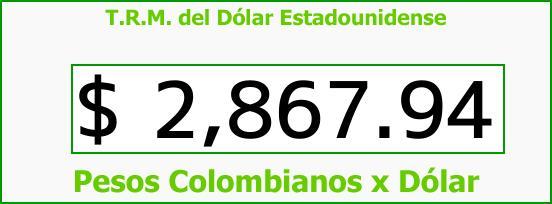 T.R.M. del Dólar para hoy Jueves 1 de Marzo de 2018