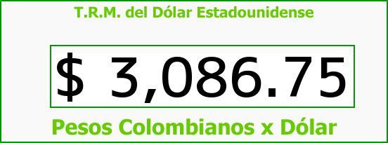 T.R.M. del Dólar para hoy Jueves 1 de Octubre de 2015