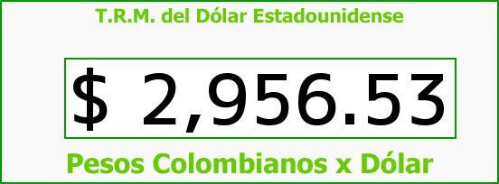 T.R.M. del Dólar para hoy Jueves 1 de Septiembre de 2016