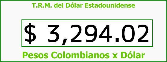 T.R.M. del Dólar para hoy Jueves 10 de Diciembre de 2015