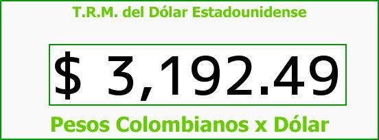 T.R.M. del Dólar para hoy Jueves 10 de Marzo de 2016