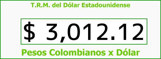 T.R.M. del Dólar para hoy Jueves 10 de Noviembre de 2016