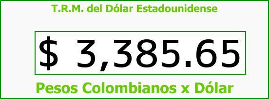 T.R.M. del Dólar para hoy Jueves 11 de Febrero de 2016