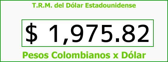 T.R.M. del Dólar para hoy Jueves 11 de Septiembre de 2014