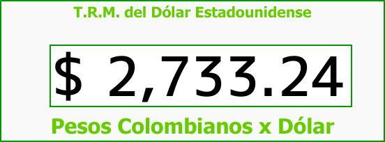 T.R.M. del Dólar para hoy Jueves 12 de Abril de 2018