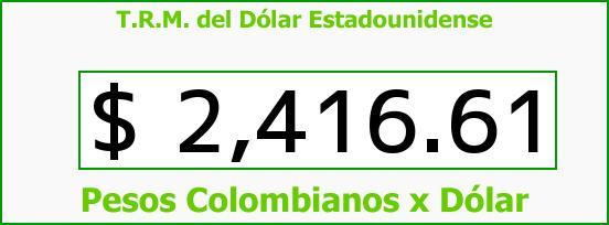 T.R.M. del Dólar para hoy Jueves 12 de Febrero de 2015