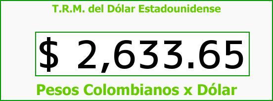 T.R.M. del Dólar para hoy Jueves 12 de Marzo de 2015