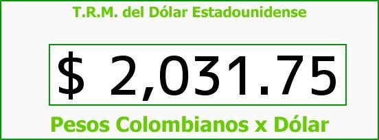 T.R.M. del Dólar para hoy Jueves 13 de Febrero de 2014