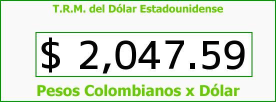 T.R.M. del Dólar para hoy Jueves 13 de Marzo de 2014