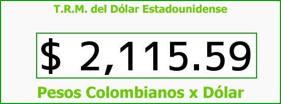 T.R.M. del Dólar para hoy Jueves 13 de Noviembre de 2014