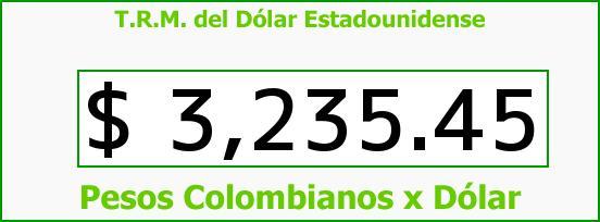 T.R.M. del Dólar para hoy Jueves 14 de Enero de 2016