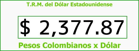 T.R.M. del Dólar para hoy Jueves 14 de Mayo de 2015