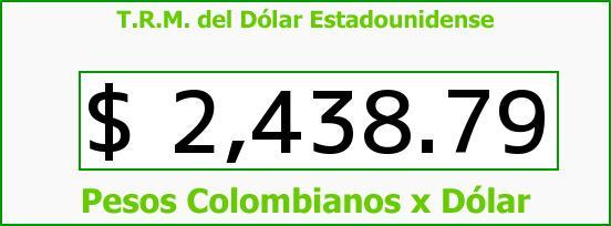T.R.M. del Dólar para hoy Jueves 15 de Enero de 2015